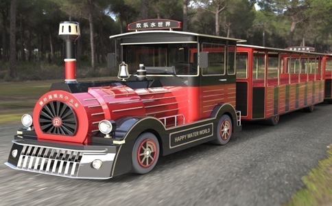 Doctor series tourist train black and red style