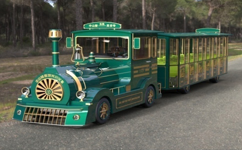 doctor series tourist train green style