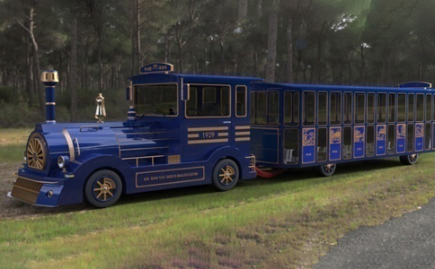doctor series tourist train blue style